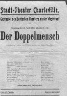 1918 Stadt Theatre Charleville, Gastspiel Des Deutschen Theatres An Der Westfront, Der Doppelmensch Theatre Poster - Posters