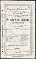 1918 Lille Deutsches Theater Armeetheater Die Schwebende Jungfrau Theatre Poster - Posters