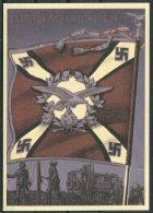 Germany DR Deutsche Reich Propoganda Wehrmacht StandartenPostcard 18 (REPRODUCTION) - War 1939-45