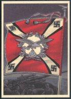Germany DR Deutsche Reich Propoganda Wehrmacht StandartenPostcard 17 (REPRODUCTION) - War 1939-45