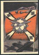 Germany DR Deutsche Reich Propoganda Wehrmacht Standarten Postcard 16 (REPRODUCTION) - War 1939-45