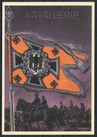 Germany DR Deutsche Reich Propoganda Wehrmacht Standarten Postcard 12 (REPRODUCTION) - War 1939-45