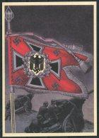 Germany DR Deutsche Reich Propoganda Wehrmacht Standarten Postcard 11 (REPRODUCTION) - War 1939-45