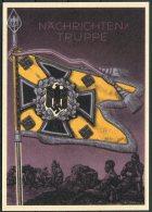 Germany DR Deutsche Reich Propoganda Wehrmacht Standarten Postcard 9 (REPRODUCTION) - War 1939-45
