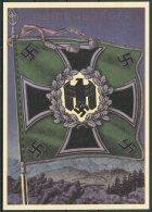 Germany DR Deutsche Reich Propoganda Wehrmacht Standarten Postcard 7 (REPRODUCTION) - War 1939-45