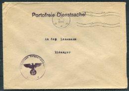 1945 Norway Germany Deutsche DR Feldpost Fieldpost Portofreie Dienstsache Reichseigentum Skien Cover - Eidanger - Norvège