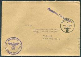 1943 Norway Germany Deutsche DR Feldpost Fieldpost Portofreie Dienstsache Reichseigentum Dienststelle Cover - Oslo - Norway