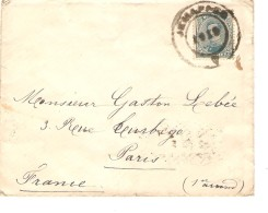 TP 141 S/L.c.Fortune Jemappes En 1919 V.Paris C..d´arrivée PR3376 - Postmark Collection