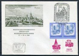 1980 Austria Freistadt Bezirksbauernkammer Briefmarkenwerbeschau Linzertor Buhmertor Cover - 1945-.... 2nd Republic