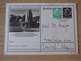 28.09.1940, POSTKARTE BAD NAUHEIM, Mit STEMPEL Von HAMBURG-STRASSENBAHN - Cartas