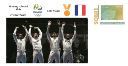 Spain 2016 - Olympic Games Rio 2016 - Gold Medal Fencing Male France Cover - Juegos Olímpicos