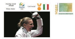 Spain 2016 - Olympic Games Rio 2016 - Gold Medal Fencing Sword Hungary Cover - Juegos Olímpicos