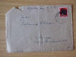 06.08.1945, SÄCHSISCHE SCHWÄRZUNG, BELEG Mit HITLERKOPF Mit STEMPEL Von RAUTENKRANZ - Zona Soviética