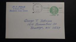 USA - 1978 - 9 Cents Nathan Hale - Postcard - Postal Stationery - Used - Look Scan - Postal Stationery