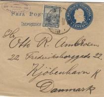 Argentina  Uprated  Postal Stationery  Wrapper To Denmark  S-2057 - Postal Stationery