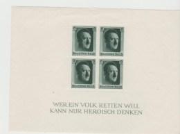 III-Reich, Block 7 Hitlers Geburtstag 1937  ** MNH