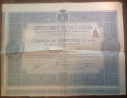 Débito Pubblico Del Regno D'Italia L 2000, Dicembre 1917 - Shareholdings