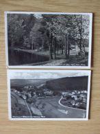 1937, ZWEI POSTKARTEN PARTIE Bei Der MÜHLE Im AUE-TAL Und WICKERSDORF Mit LANDPOSTSTEMPEL Von WICKERSDORF über SAALFELD - Saalfeld