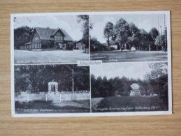 Um 1940, POSTKARTE Von SCHWITSCHEN, VISSELHÖVEDE, GASTHAUS U. GEMISCHTWAREN H. SCHRÖDER, SCHULE, SCHLAGETER-DENKMAL U.a. - Rotenburg (Wümme)