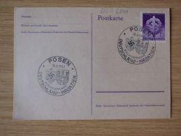 16.08.1942, POSTKARTE Mit Nr. 818 Mit SONDERSTEMPEL Von POSEN, BOXLÄNDERKAMPF DEUTSCHLAND-KROATIEN - Cartas