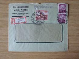 29.03.1940, RECO-BELEG Der GEWEHR-und FAHRRADFABRIK Fr. LANGENHAN Mit STEMPEL Von ZELLA-MEHLIS, LUFTGEWEHR-WERBUNG RÜCKS - Cartas