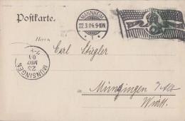DR Karte EF Minr.70 Flaggenstempel Mannheim 22.3.04 - Deutschland