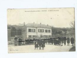 CPA  - Environs De Bonnières Sur Seine -  Gloton  - La Mairie Et Les Ecoles - France