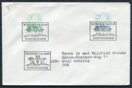 1986 Aland Eckero Postrodden Cover - Aland