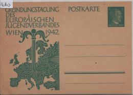 1942 Gründungstagung Des Europäischen Jugendverbandes Wien P 309 - Postwaardestukken