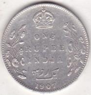 BRITISH INDIA. ONE RUPEE 1907 . EDWARDS VII . ARGENT /SILVER - Inde