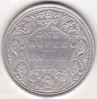 BRITISH INDIA. ONE RUPEE 1876 .VICTORIA . ARGENT /SILVER - India