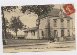 CPA: 71 - St CHRISTOPHE EN BRIONNAIS - MAIRIE ET ECOLE COMMUNALE - France