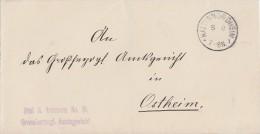 DR Brief Frei Laut Avers Nr.15 Kaltennordheim - Dienstpost
