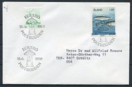 1990 Aland Eckero Postrodden Cover - Aland