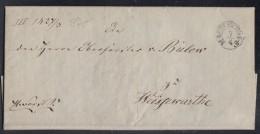 Brief Gel. Von K2 Magdeburg 7.4.1840 Nach Weißewarthe Mit Inhalt - Deutschland