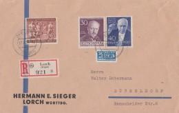 Berlin Briefvorderseite Mif Minr.99,124,125 Lorch - Berlin (West)