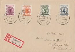 West-Sachen R-Brief Mif Minr.139,140,142,149 Leipzig 5.2.46 - Sowjetische Zone (SBZ)