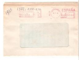 Carta Con Matasello Mecanico 1973 - Marcofilia - EMA ( Maquina De Huellas A Franquear)