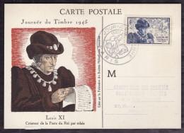 Journée Du Timbre 1945  - Louis XI - Cartes-Maximum