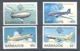 Barbados - 1983 200 Years Aviation MNH__(TH-11159) - Barbados (1966-...)
