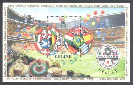 Belize - 1986 Football World Cup Block MNH__(THB-1614) - Belize (1973-...)