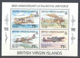 British Virgin Islands - 1998 Royal Air Force Block MNH__(TH-11876) - British Virgin Islands