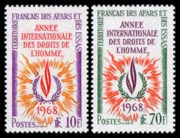 Afars Et Issas, 1968, Human Rights Declaration, 20th Anniversary, United Nations, MNH, Michel 16-17