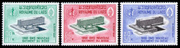 Laos, 1966, World Health Organization, WHO, OMS, New Building, United Nations, MNH, Michel 182-184 - Laos