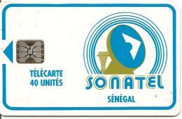 CARTE-PUCE-SENEGAL-40U-SC5-SONATEL-V°9 N° 9 N°RGE-C31141010-UTILISE-TBE