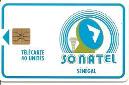 CARTE-PUCE-SENEGAL-40U-GEMA-SONATEL-V°Sans N°-UTILISE-TBE - Sénégal