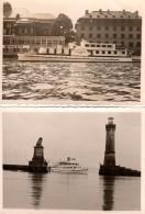 2 Photos Originales Allemagne - Ile De Lindau - 88131 - Phare Et La Statue Du Lion, Bateaux Hugau & Lady Constance - Bateaux