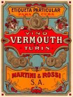 """06223 """"MARTINI - VINO VERMOUTH DE TURIN - MARTINI E ROSSI S.A. - TORINO"""" ETICH. ORIG. - ORIGINAL LABEL - Etichette"""