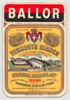 """06226 """"BALLOR - VERMOUTH BIANCO - FREUND, BALLOR E C.IA  - TORINO"""" ETICH. ORIG. - ORIGINAL LABEL - Etichette"""