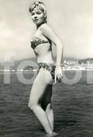 REAL PHOTO POSTCARD ITALIAN PINUP PIN UP SEXY BIKINI PRAIA BEACH CARTE POSTALE - Pin-Ups